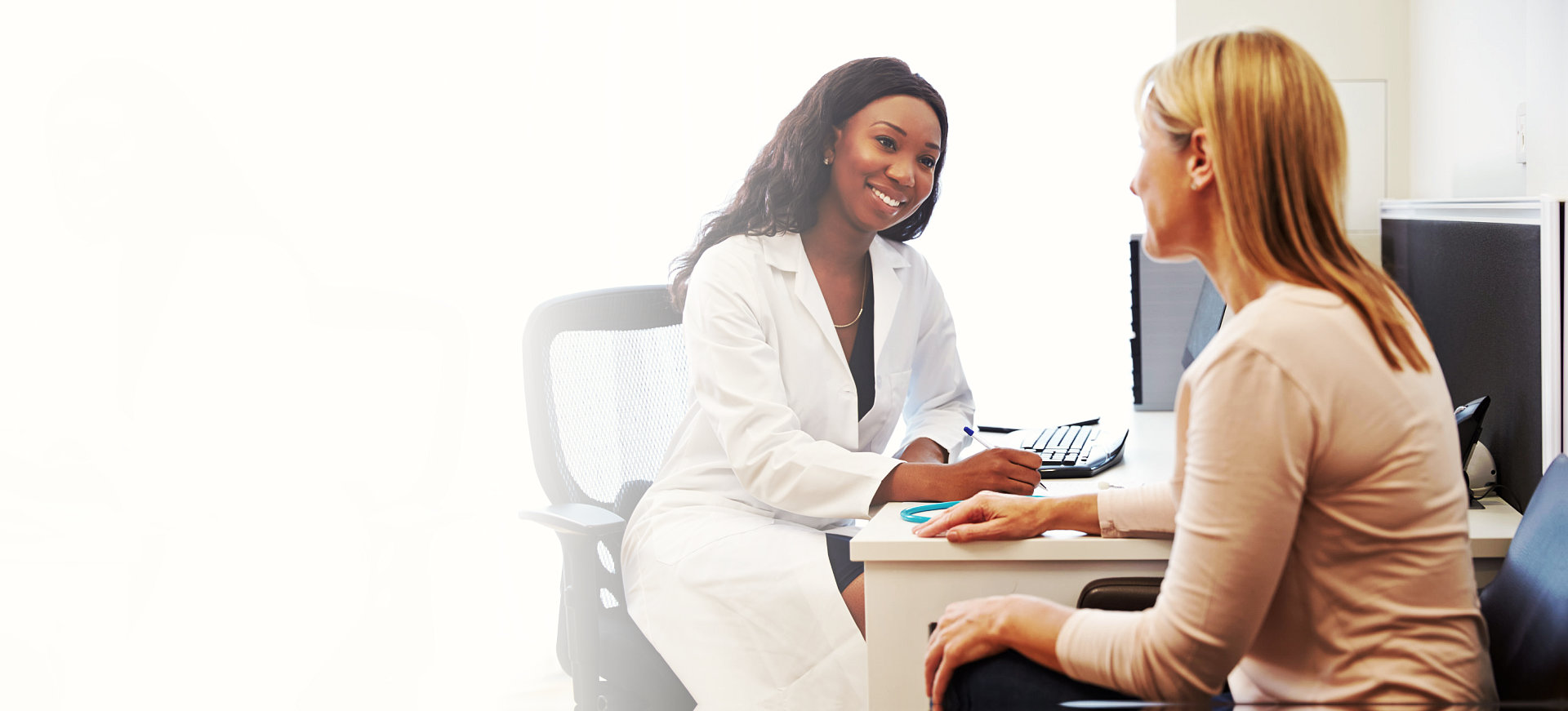 doctor assisting consulting